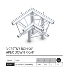018 - M290 Trio - 3 cestný roh 90 - apex down right