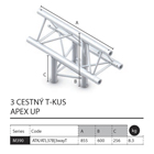 018 - M390 Trio - 3 cestný T kus apex up