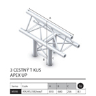 024 - M390 Trio - 3 cestný T kus apex up
