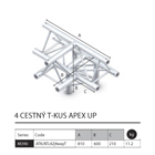 026 - M390 Trio - 4 cestný T kus apex up