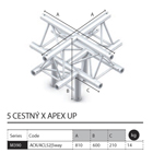030 - M390 Trio - 5 cestný X kus apex up